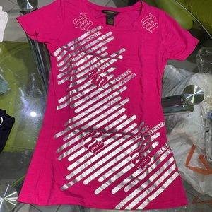 Pink/silver tee